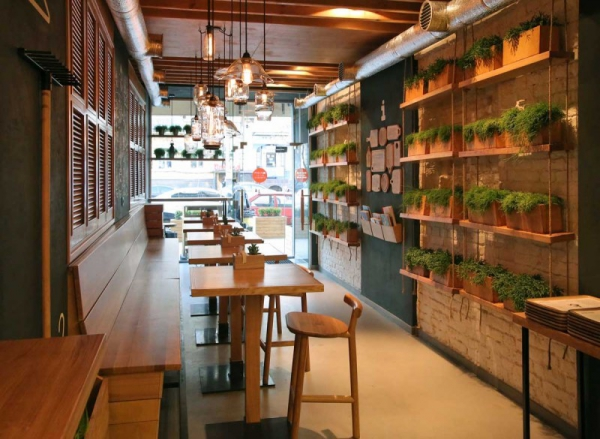 Stunningly simple casual restaurant design kiev