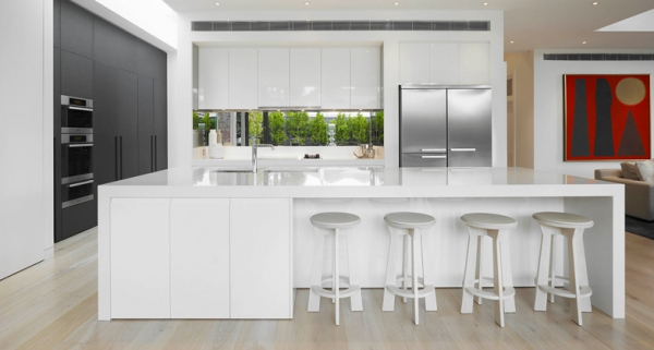 Stylish quartz kitchen countertops (11)