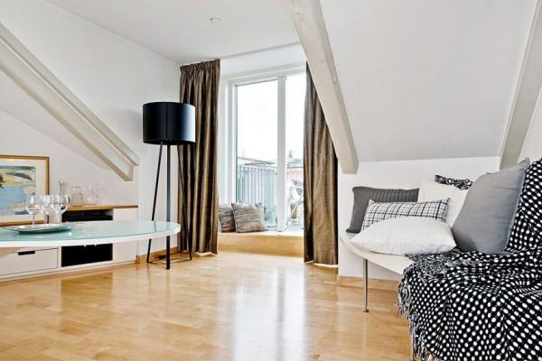 Swedish attic apartment ideas  (12)
