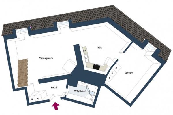 Swedish attic apartment ideas  (19)