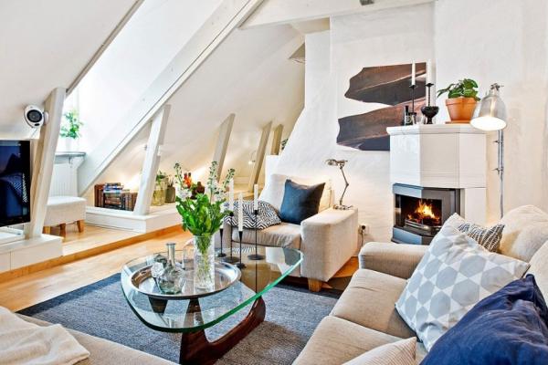 Swedish attic apartment ideas  (3)
