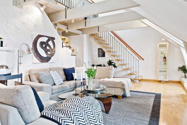 Swedish attic apartment ideas  (4)