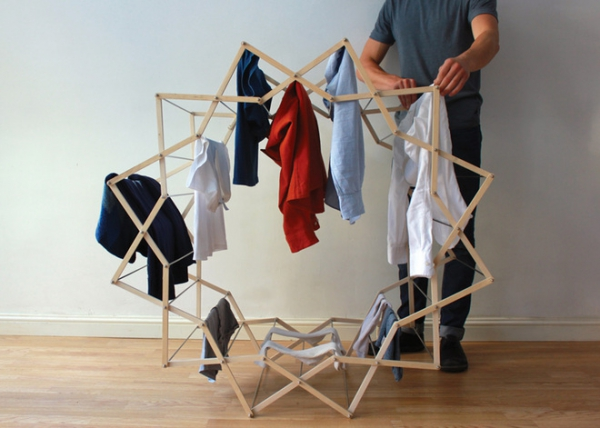 The Clothes Horse star shaped drying rack (5)