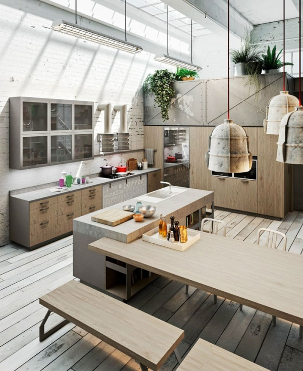 The Royalty Of Kitchen Design: Loft-Style Kitchens