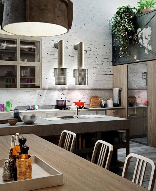 Modern Industrial Style Kitchen: The Royalty Of Kitchen Design: Loft-Style Kitchens