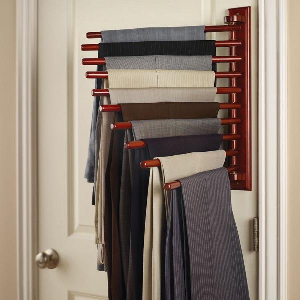 The trouser rack a handy closet organizer