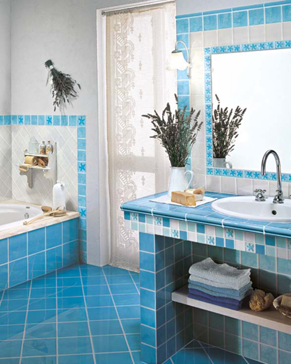 sink tile again but this time it is in a bright blue color