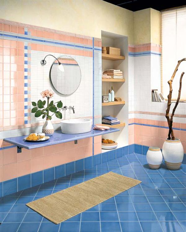 Wonderful bathroom tile ideas adorable home for Peach tile bathroom ideas