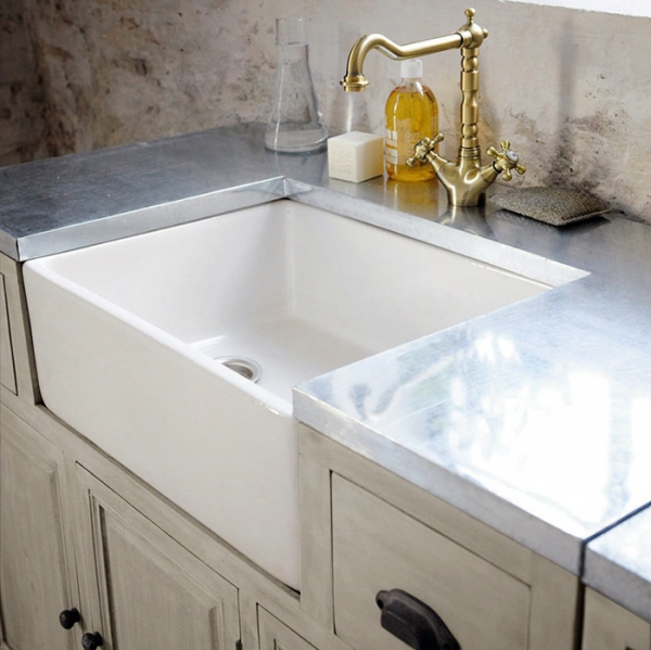 This is why we love french kitchens adorable home - Kitchen sink in french ...