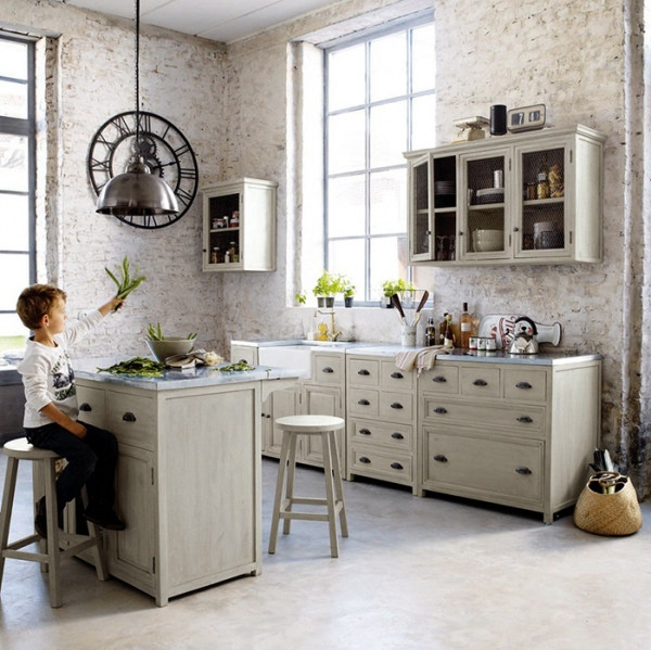 This is why we love french kitchens adorable home - Maison du monde cuisine zinc ...