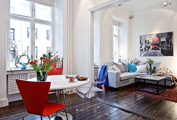 Tiny swedish apartment adorable home for Design apartment 50m2