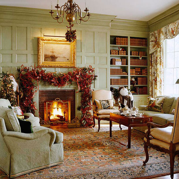 Traditional Christmas Decor In Red And Green Adorable Home