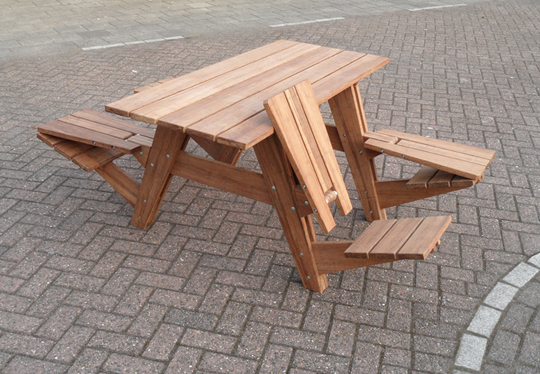 Amazing Transformable Picnic Table