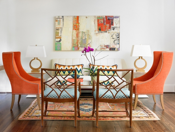 Turquoise and orange: a vivid interior » Adorable Home - Turquise And Orange Home Decor
