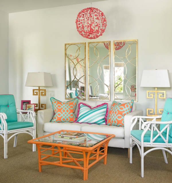 Turquoise and orange: a vivid interior – Adorable Home
