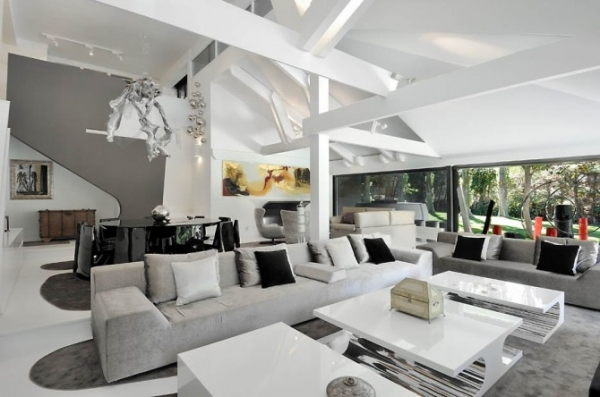 Ultra modern interior featuring futuristic architecture adorable home - Futuristic home interior ...