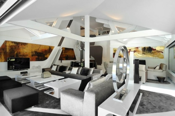 Ultra Modern Interior Featuring Futuristic Architecture 8
