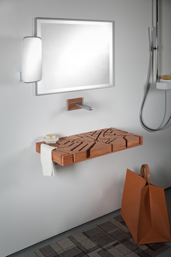 Unique bathroom furniture: the Water Map basin
