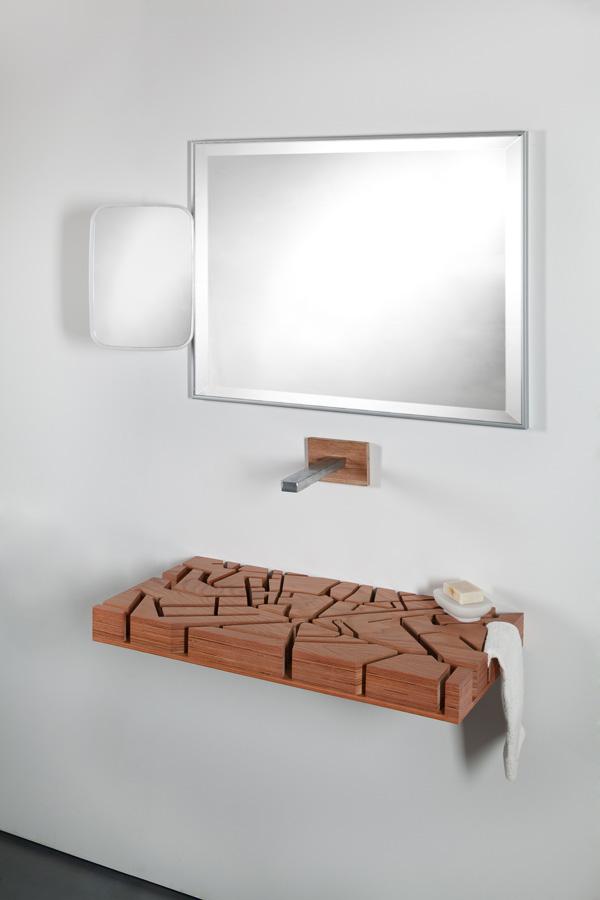 Unique Bathroom Furniture The Water Map Basin