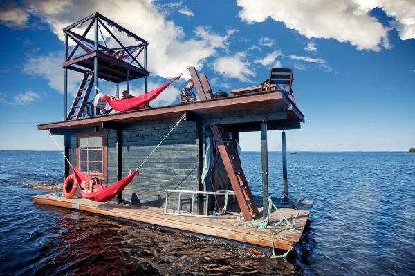 floating sauna raft 1