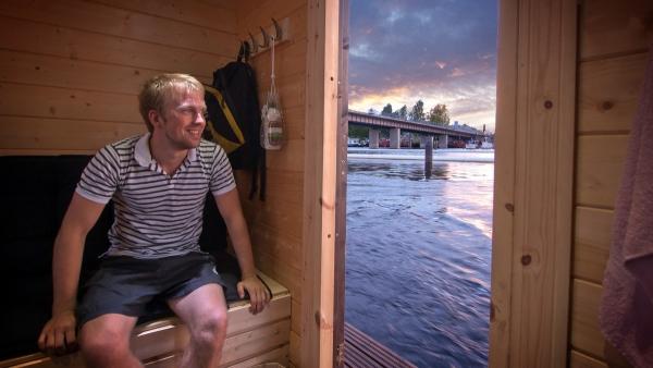 floating sauna raft 3