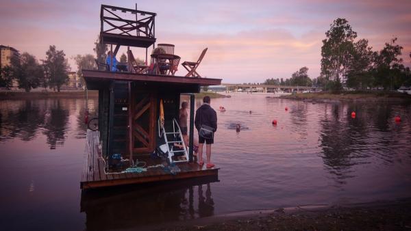 floating sauna raft 4