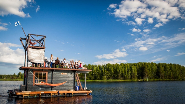 floating sauna raft 5