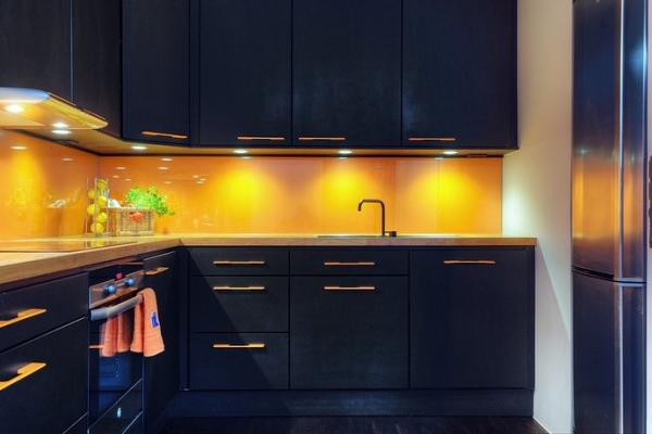 Various kitchen designs adorable home for Yellow blue kitchen ideas