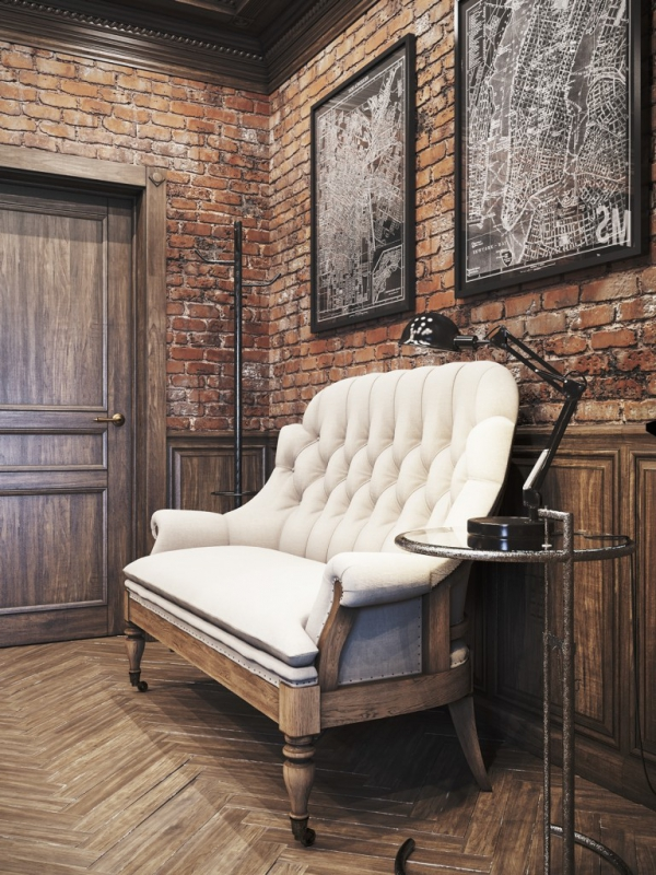 Amazing Vintage Office Design In Private Residence