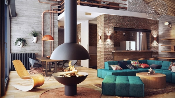 Warm and Hypnotic Industrial Style – Adorable Home