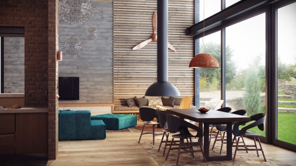 Warm And Hypnotic Industrial Style Adorable Home