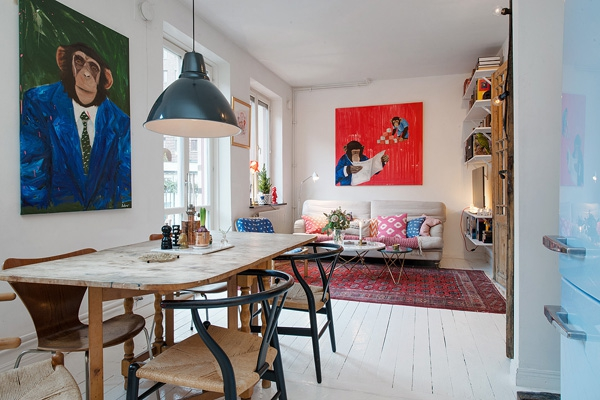We love the eclectic Scandinavian decor (2)