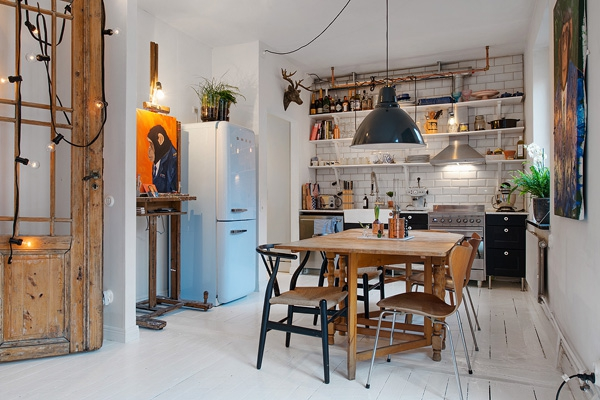 We love the eclectic Scandinavian decor (5)