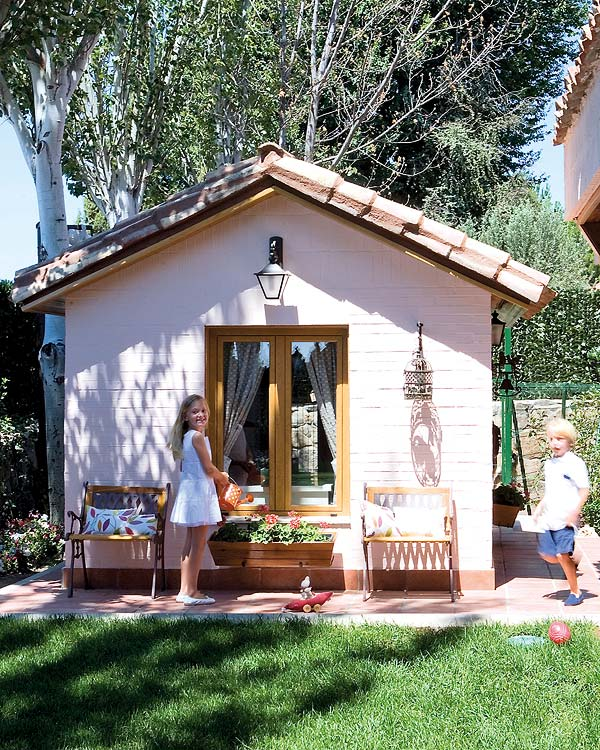 What's better than a playroom? A kids playhouse – Adorable ...