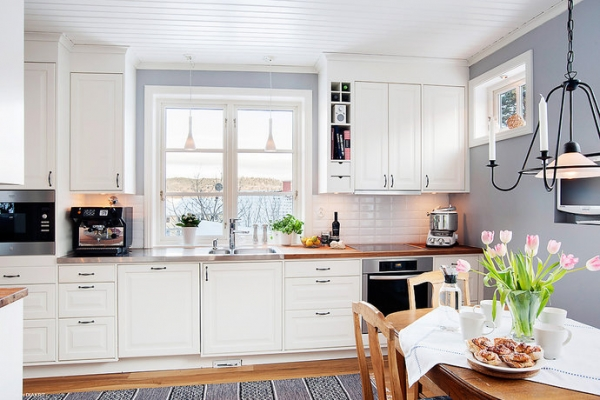 White Wood In The Kitchen Adorable Home