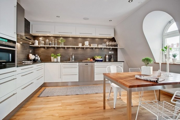 White Wooden Kitchens White And Wood In The Kitchen  Adorable Home