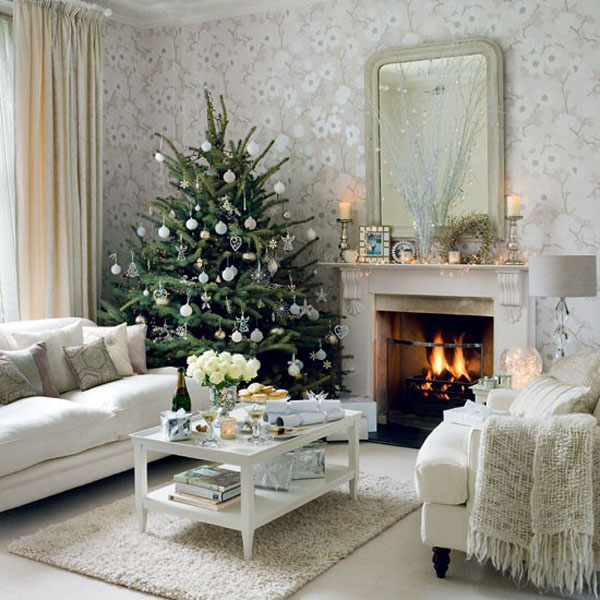 Christmas Home Decor.White Christmas Home Decor Adorable Home