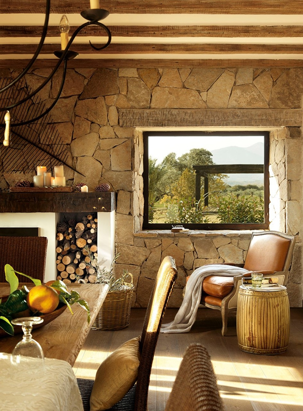 Wonderful house found in the countryside of spain for Spanish villa interior design
