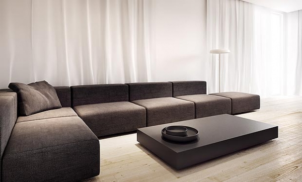 Wonderful minimalist interior design adorable home for Minimalist sofa design