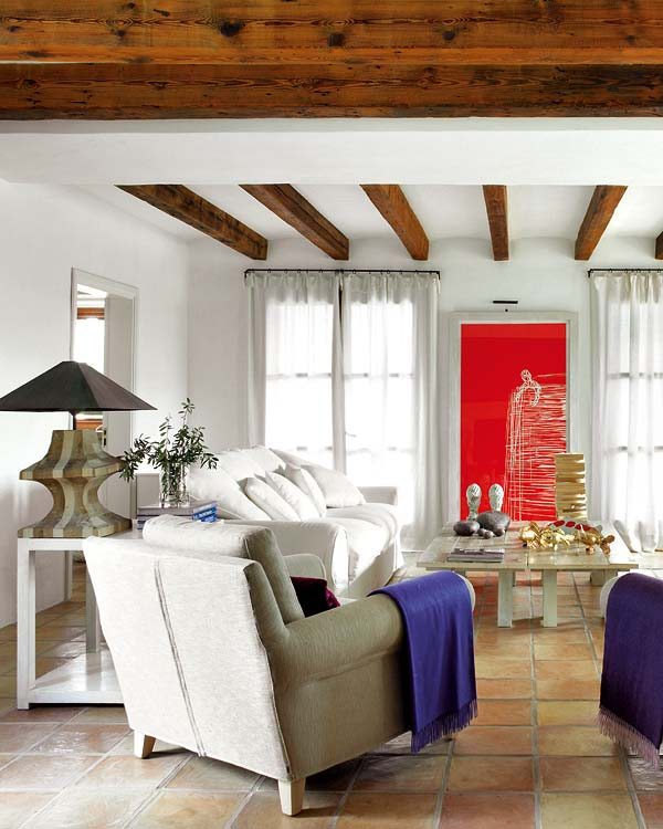 Wood beams and jewel tones a rustic house adorable home - Wood Beams And Jewel Tones A Rustic House Adorable Home
