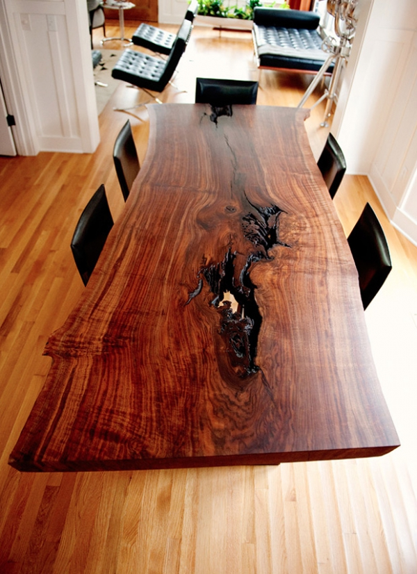 Wood Slab Table Shows True Beauty Adorable Home