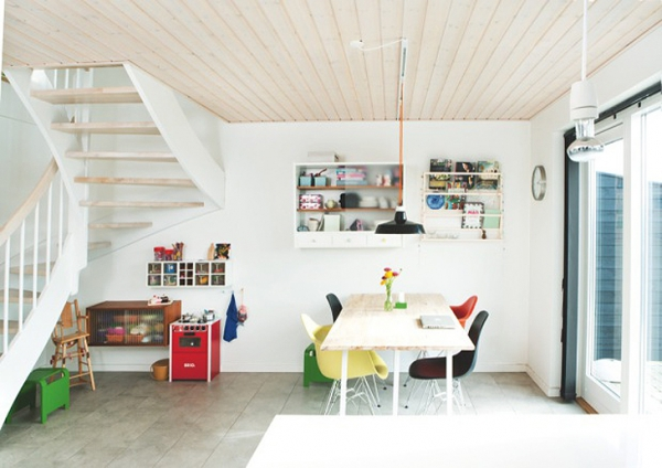 Wooden Ceilings In A Scandinavian House Adorable Home