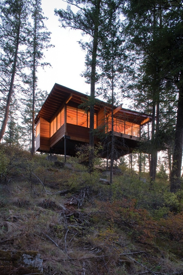 Wooden Forest Cabin In Montana Adorable Home