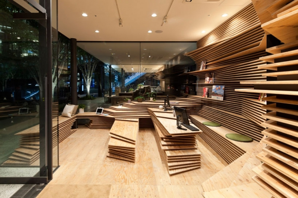 Wooden interior design  practical and beautiful