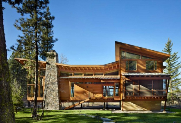 Wooden residence in all its abstract glory  (1)