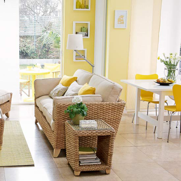 Yellow living room designs adorable home for Living room yellow walls
