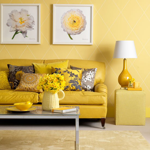 Yellow Living Room Designs – Adorable Home