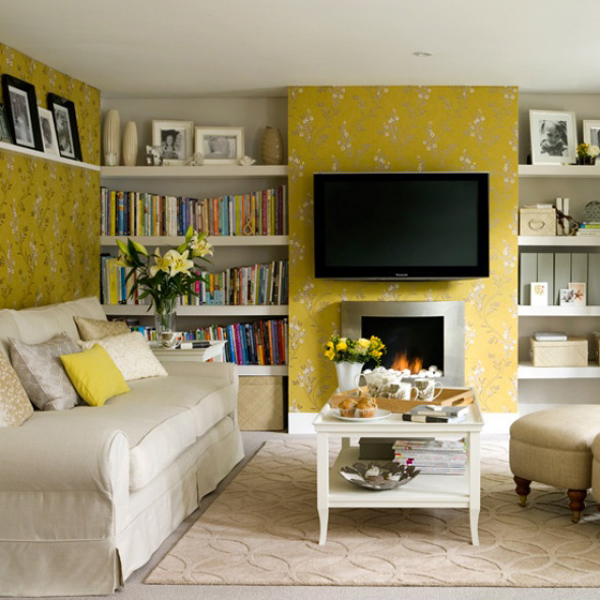 Yellow living room designs adorable home for Interior design ideas yellow living room