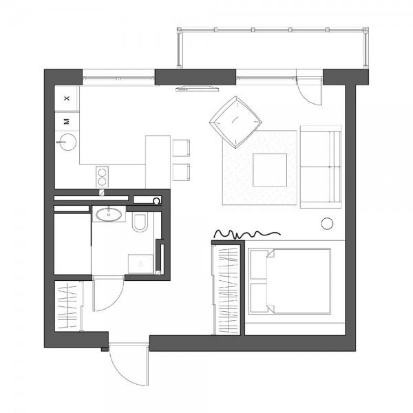 modern studio apartment (13)