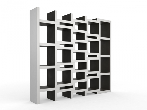 zigzag shaped bookcase (5).jpg - Zigzag Shaped Bookcase That Extends On  Demand - Zig Zag Bookcase Design Your Life